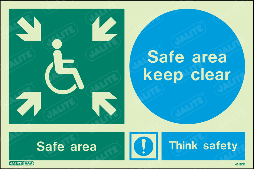 4313DD-Jalite Disability Safe Area Keep Clear Signs