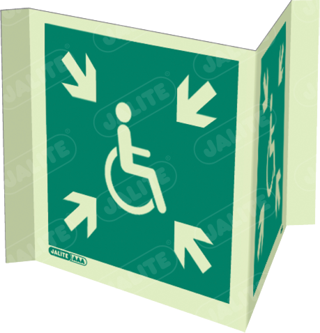 4650P20-Jalite Disability Safe Area Signs