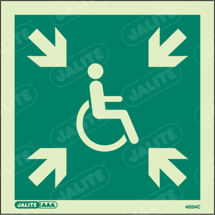 4654C-Jalite Disability Safe Area Signs