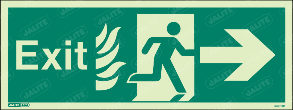 405HTMK-Jalite NHS HTM Exit Sign Arrow Right