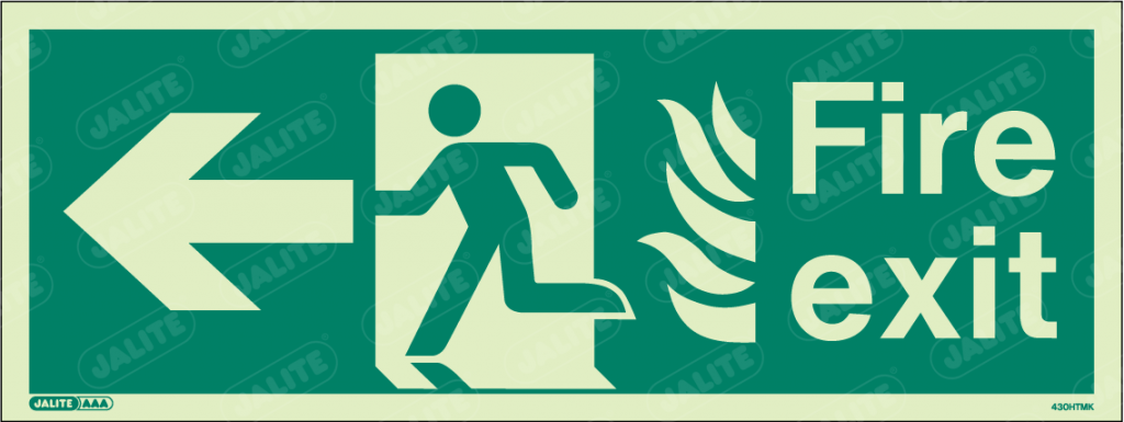 430HTMK-Jalite NHS HTM Fire Exit Sign