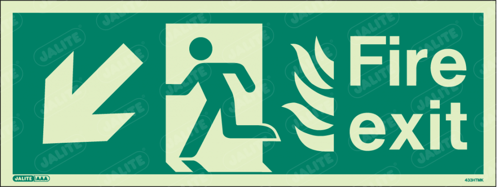 433HTMK-Jalite NHS HTM Fire Exit Sign
