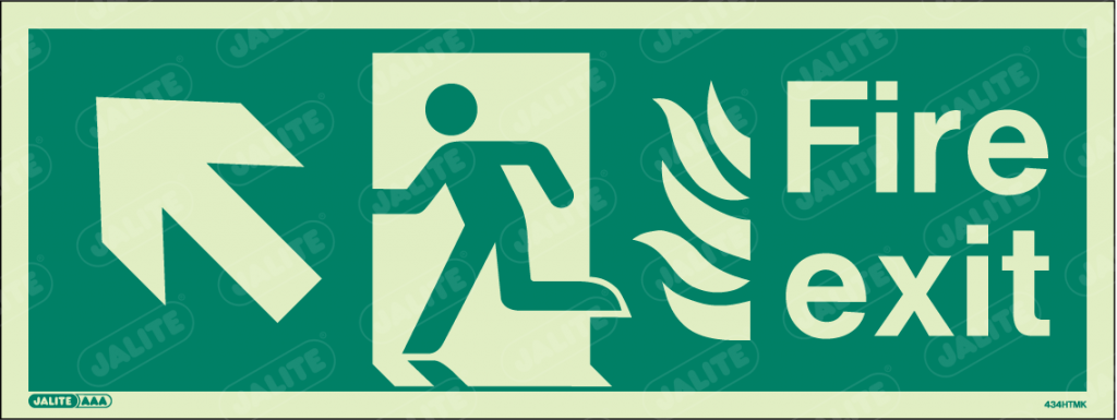 434HTMK-Jalite NHS HTM Fire Exit Sign