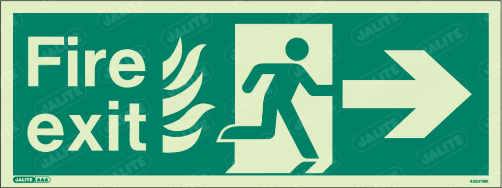 435HTMK-Jalite NHS HTM Fire Exit Sign
