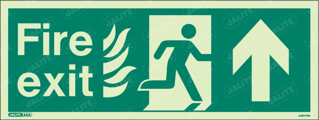 436HTMK-Jalite NHS HTM Fire Exit Sign