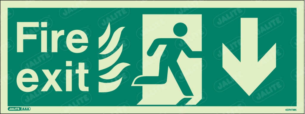 437HTMK-Jalite NHS HTM Fire Exit Sign