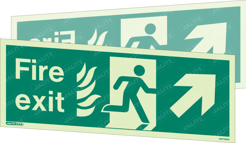 438HTMDSK-Jalite NHS HTM Double Sided Sign
