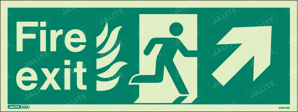 438HTMK-Jalite NHS HTM Fire Exit Sign