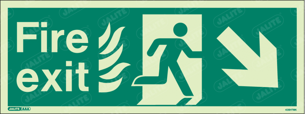 439HTMK-Jalite NHS HTM Fire Exit Sign